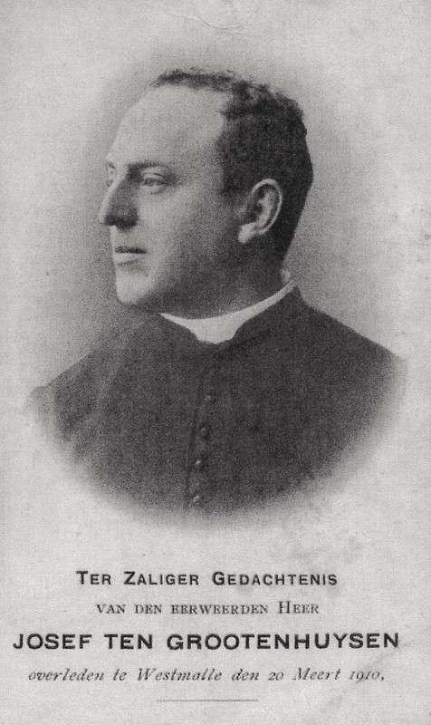 E.H. Josef Ten  Grootenhuysen (1852-1910) was eigenaar  van het land waarop  S.J.B. zou verrijzen.