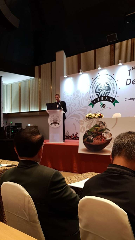 Spreker op de eerste ASEAN Coffee Industry Conference, Chiang Mai, Thailand